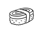 <span class='hidden-xs'>Coloriage de </span>Niguiri au omelette à colorier