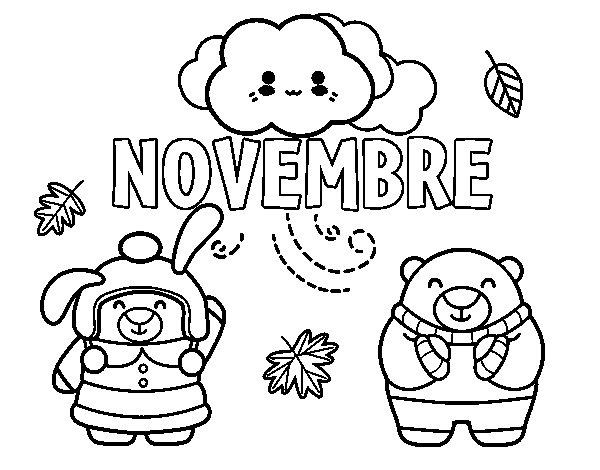 Coloriage de novembre pour colorier - Coloriage novembre ...