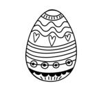 <span class='hidden-xs'>Coloriage de </span> Oeuf de Pâques décoration à colorier