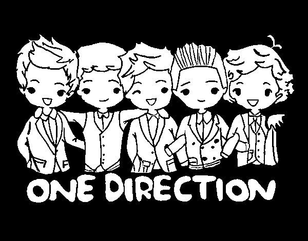 Coloriage de One direction pour Colorier