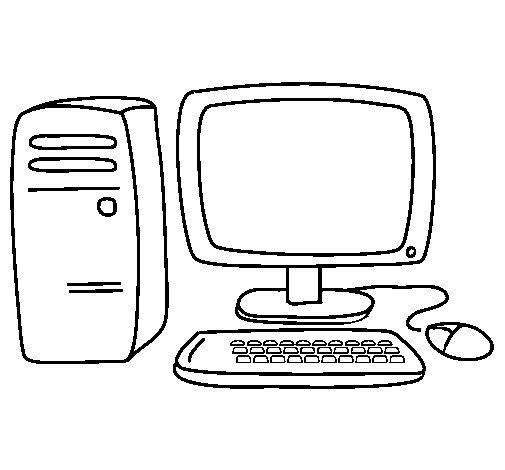 coloriage de ordinateur 3 pour colorier