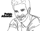 Dibujo de Pablo Alborán premier plan