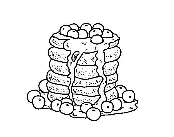 Coloriage de Pancakes pour Colorier