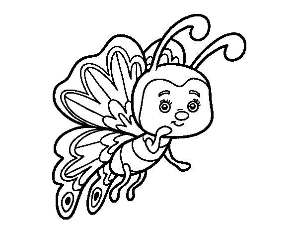 Coloriage de Papillon coquette pour Colorier