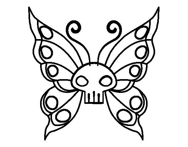Coloriage de papillon emo pour colorier for Emo coloring pages