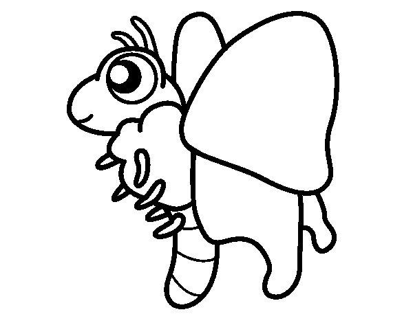 Coloriage de Papillon heureuse pour Colorier