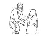 <span class='hidden-xs'>Coloriage de </span>Peintures rupestres de l'homme préhistorique à colorier