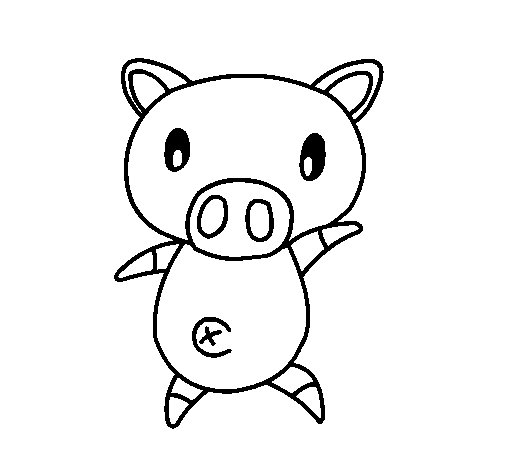 Coloriage de petit cochon graffiti pour colorier - Coloriage graffiti ...