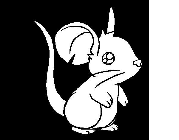 Coloriage de Petit souris pour Colorier