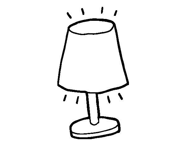 Coloriage de petite lampe pour colorier - Coloriage lampe ...
