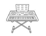 <span class='hidden-xs'>Coloriage de </span>Piano Synthétiseur à colorier
