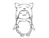 Dibujo de Pingouin avec drôle de chapeau