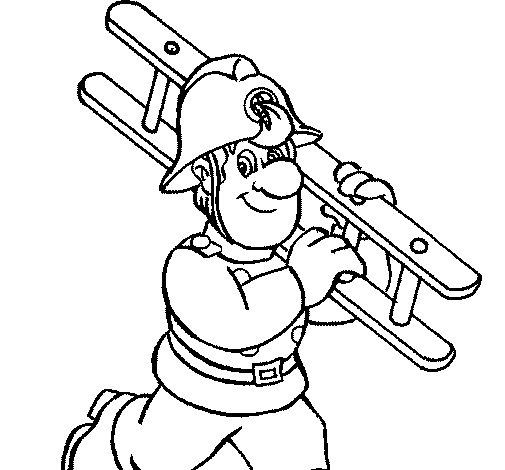 Coloriage de pompier 8 pour colorier - Coloriages pompiers ...