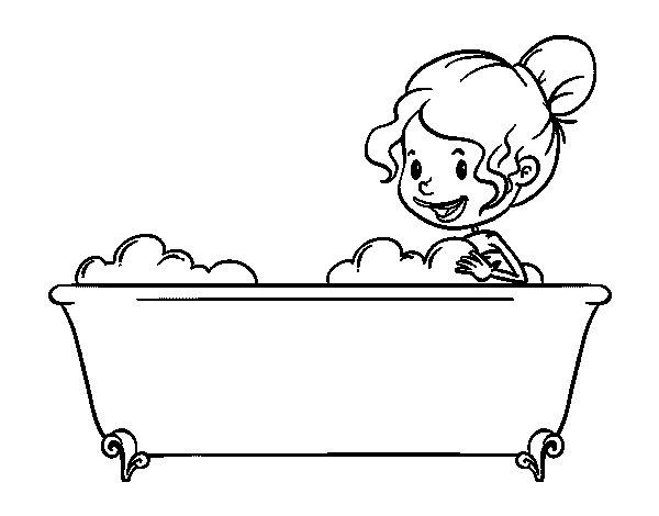 Coloriage de pour prendre un bain pour colorier for Objetos para banarse