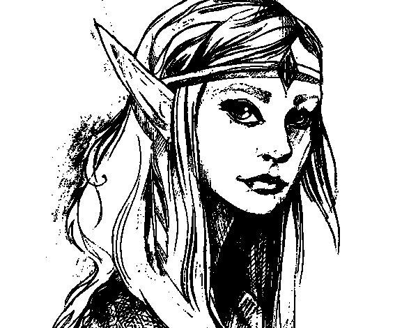 Coloriage de princesse elfe pour colorier - Coloriage elfe ...