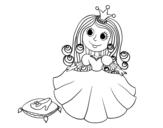 Dibujo de  Princesse et pantoufle de verre