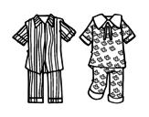 <span class='hidden-xs'>Coloriage de </span>Pyjamas à colorier