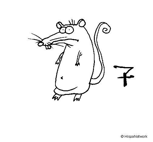 Coloriage de rat 2a pour colorier - Dessin d un rat ...