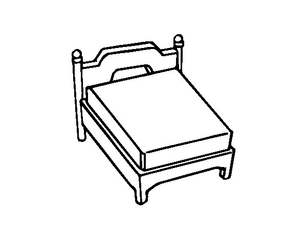 Queen Bed Coloring Page