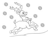 Dibujo de Renne de Noël