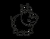 <span class='hidden-xs'>Coloriage de </span>Rhinocéros blanc à colorier