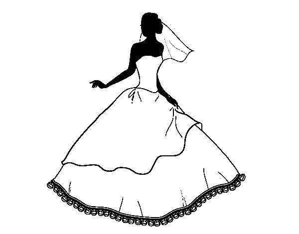 coloriage de robe de mari e pour colorier