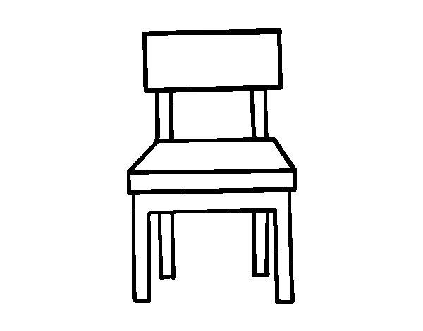 coloriage de salle manger chaise pour colorier. Black Bedroom Furniture Sets. Home Design Ideas