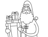<span class='hidden-xs'>Coloriage de </span>Santa Claus avec des cadeaux à colorier