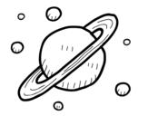 <span class='hidden-xs'>Coloriage de </span>Satellites naturels de Saturne à colorier
