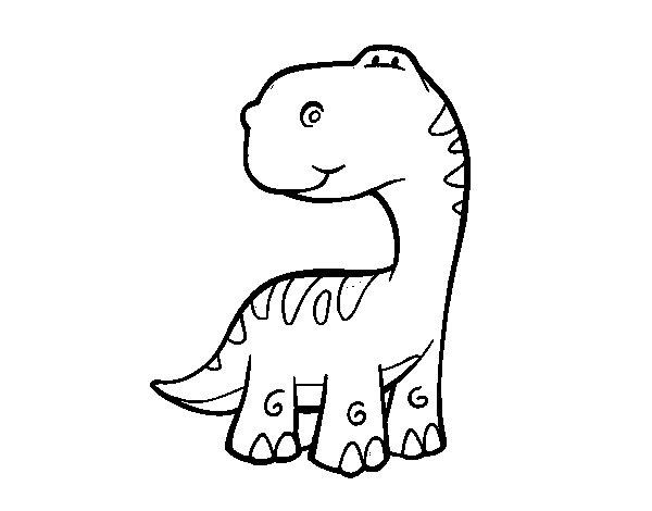 Coloriage de Sauropode pour Colorier