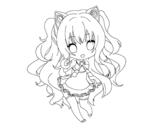 <span class='hidden-xs'>Coloriage de </span>SeeU Chibi Vocaloid à colorier