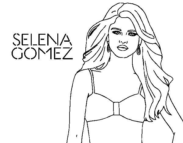 Coloriage de selena gomez pour colorier for Selena gomez coloring page