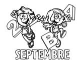 <span class='hidden-xs'>Coloriage de </span>Septembre à colorier