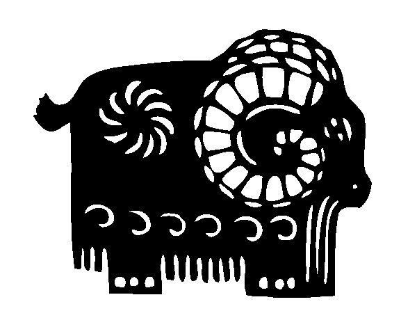 Coloriage de Signe du chèvre pour Colorier