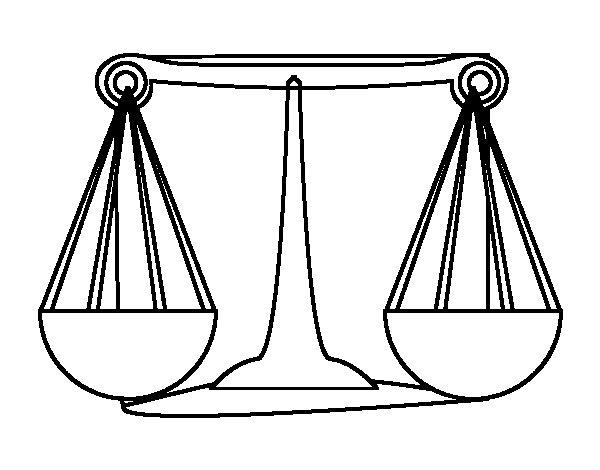 Coloriage de signe du zodiaque balance pour colorier - Dessin de balance ...