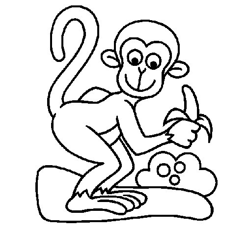 Coloriage de singe pour colorier - Dessin de singe a colorier ...