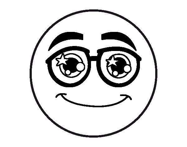 Coloriage de smiley avec des lunettes pour colorier - Smiley coloriage ...