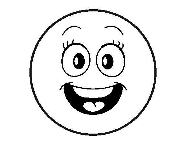 Coloriage de smiley pour colorier - Image de smiley a imprimer ...