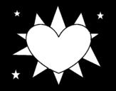 Dibujo de Soleil en forme de coeur