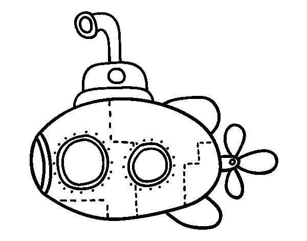 Coloriage de sous marin scientifique pour colorier - Coloriage sous marin ...