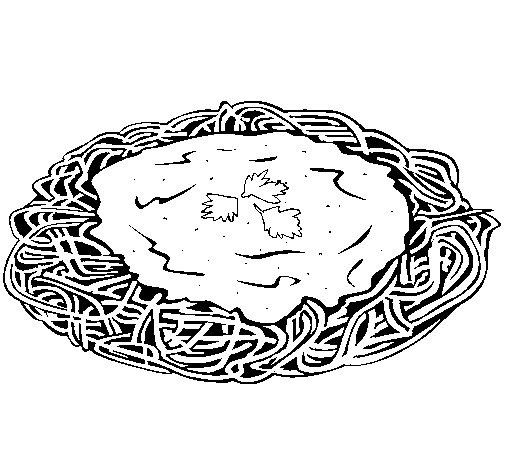 Free Pasta Spaghetti Coloring Pages Pasta Coloring Pages