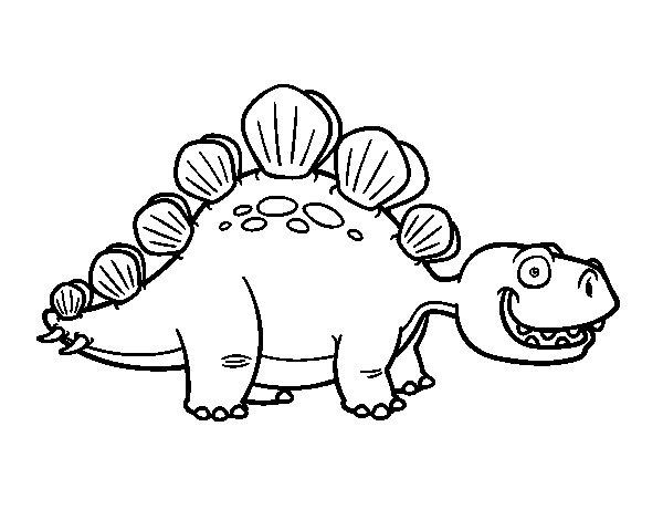 Coloriage de Stégosaure pour Colorier
