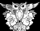 <span class='hidden-xs'>Coloriage de </span>Symbole de hibou à colorier
