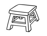 <span class='hidden-xs'>Coloriage de </span>Tabouret carré à colorier