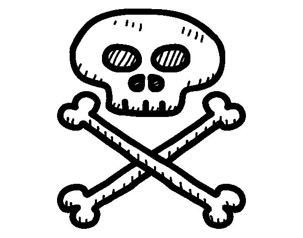 Coloriage de t te de mort pirate pour colorier - Coloriage tete de mort ...