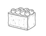 Dibujo de Tarte aux bleuets