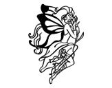 <span class='hidden-xs'>Coloriage de </span>Tatouage de fée à colorier