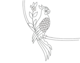 <span class='hidden-xs'>Coloriage de </span>Tatouage de perroquet à colorier