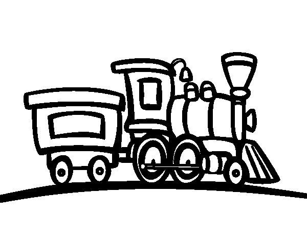 Coloriage de train avec wagon pour colorier - Dessin train et wagon ...