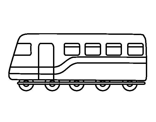 Coloriage de train de passagers pour colorier - Coloriage train a vapeur ...